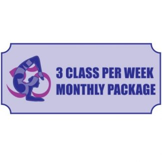 Three Class Per Week Monthly Package