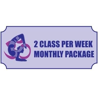 Two Class Per Week MonthlyPackage
